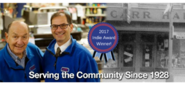 Carr Hardware Wins 2017 National Small Business Award and Donates $5000 Cash Prize to the City of Pittsfield, MA.