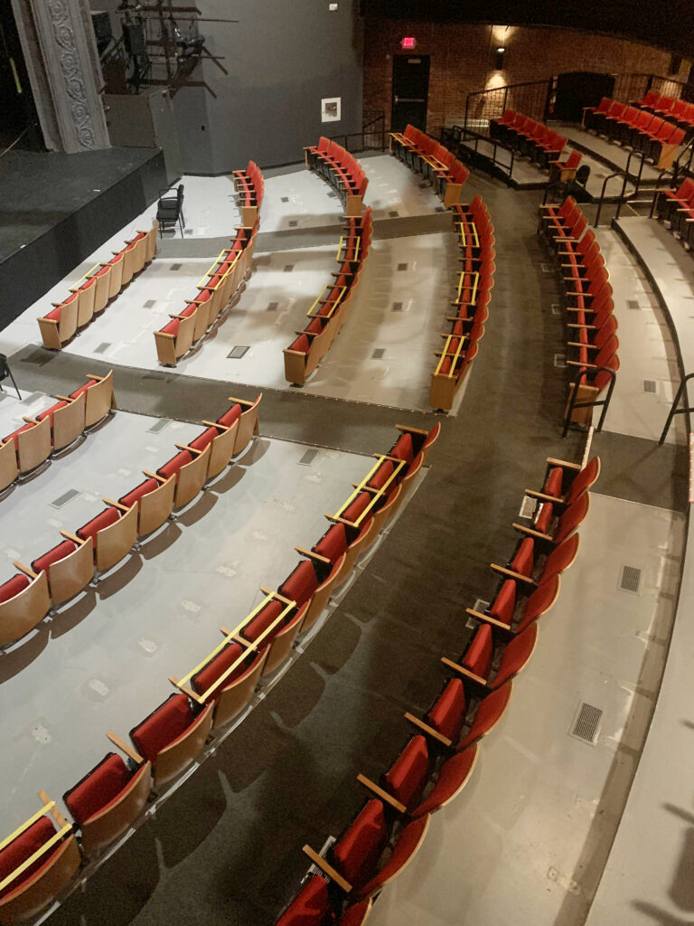 Barrington Stage Company (BSC) has upgraded their air ventilation system and removed every other row of seats.