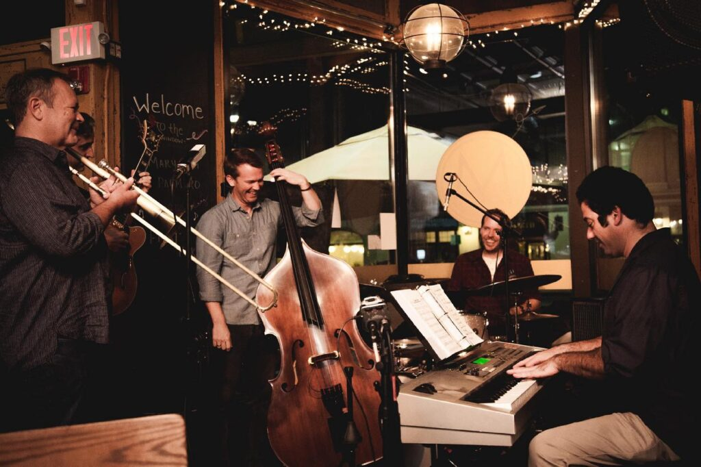 On Monday nights from 7 to 10 pm enjoy live jazz at Mission Bar + Tapas.