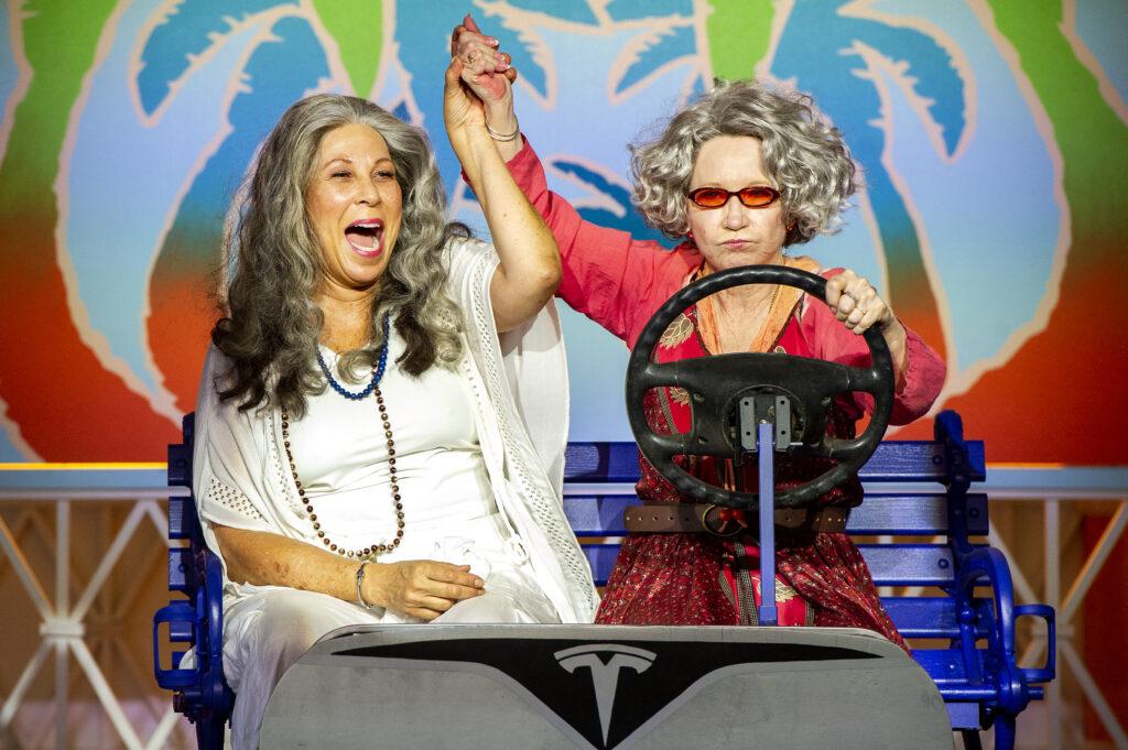 Boca at Barrington Stage Company. Pictured: April Ortiz and Debra Jo Rupp. Photo by Daniel Rader.