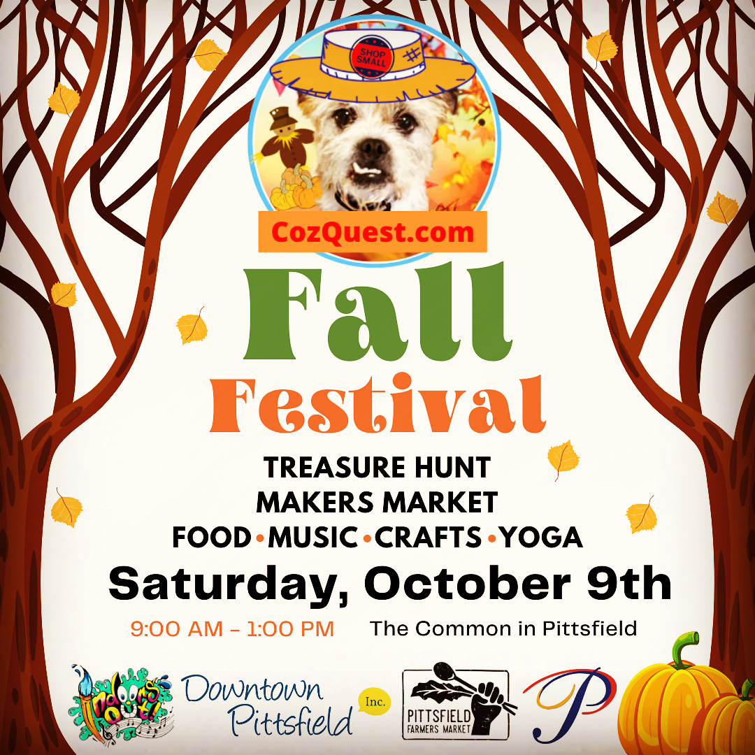 Indoors Out! presents the CozQuest Treasure Hunt at the Fall Festival on the Common